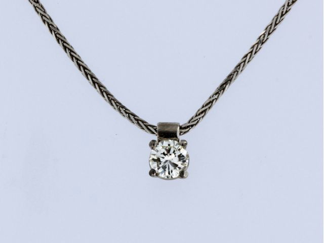 0.37 ct Diamond Solitaire Pendant