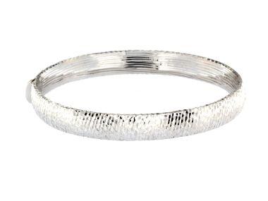 Textured Bangle Bracelet