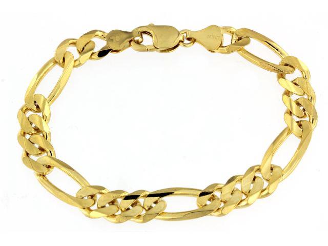 9 inch Figaro Mens Bracelet