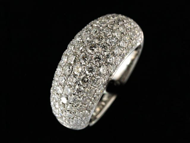 18KT Domed Pavee Band