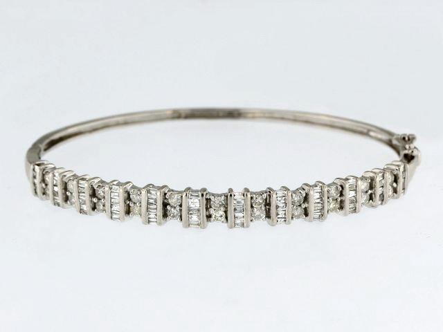 14KT Diamond Bangle