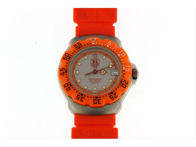 Ladies Formula 1 Orange Sports Watch