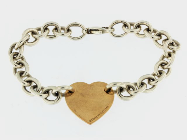 18KT & Silver Tiffany Bracelet