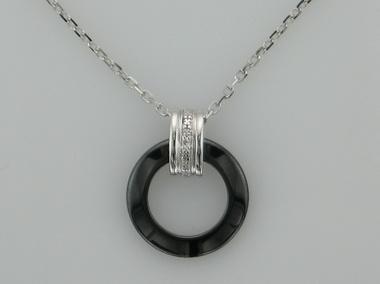 Small Ceramic Circle Pendant