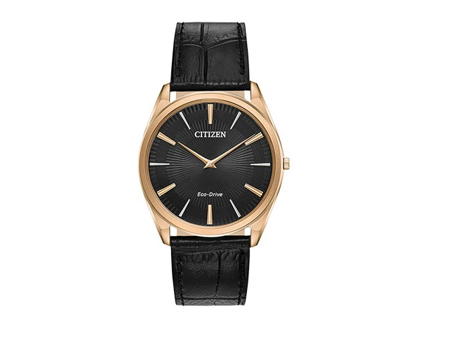 Gents Black Stiletto Eco-Drive
