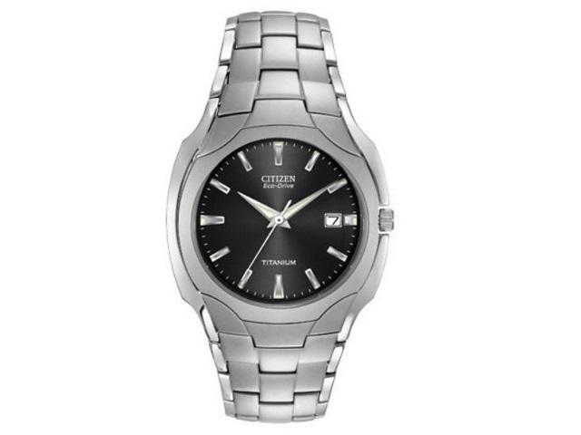 Gents Eco-Drive Titanium Watch