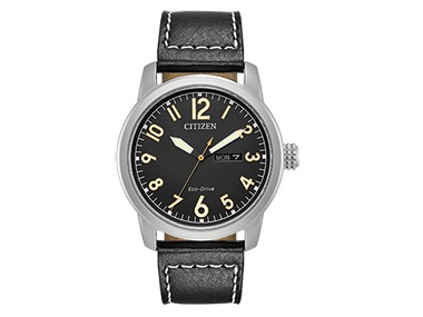 Black Dial & Leather Eco-Drive