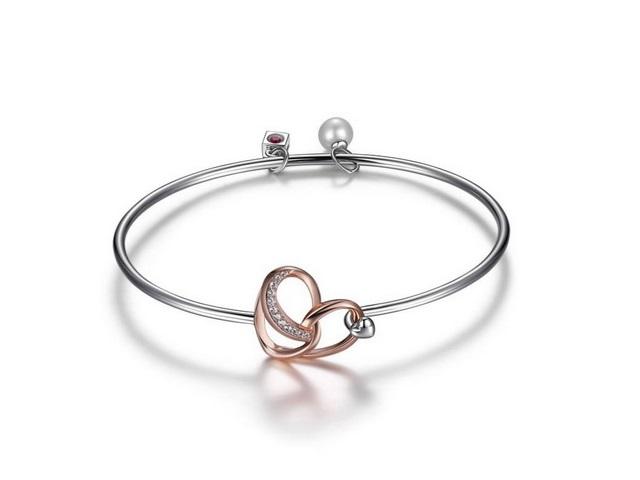Silver Amour Bangle Bracelet