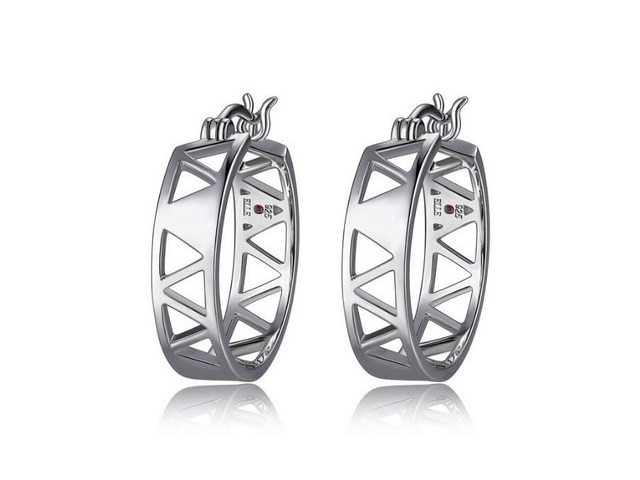 Silver Cairo Hoop Earrings