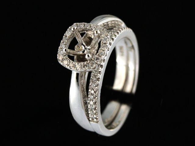 Engagement Ring Mount & Matching Band