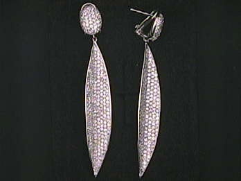 Silver Earrings Set With Cubics