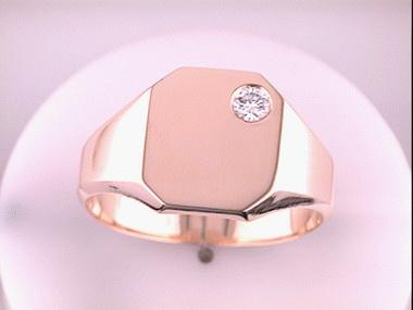 14ky.12ct Rectangular Signet Ring