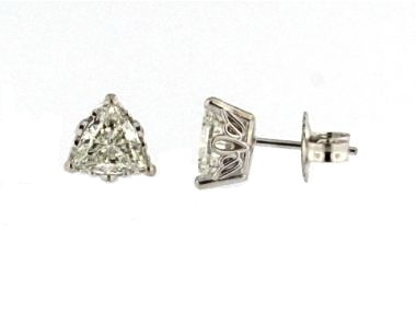 1.60 ctw Triangle Diamond Earrings