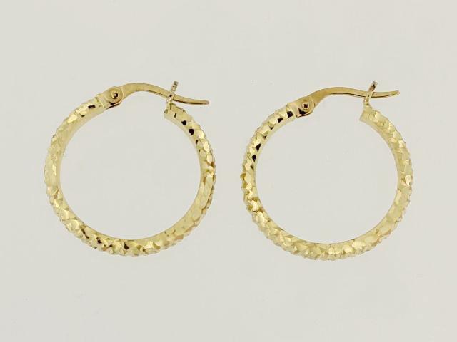 14KT Faceted Earrings