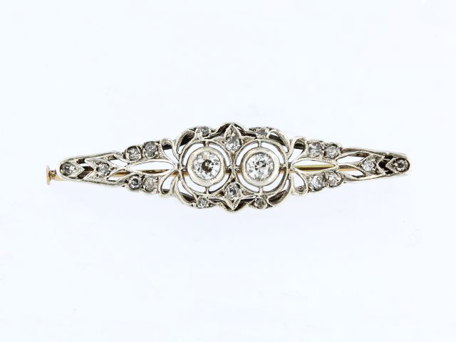 0.54 ctw  Antique Diamond Brooch