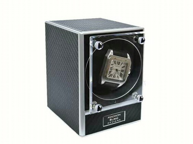 Black and Chrome Watch Winder