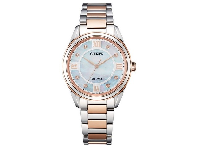 Eco Drive with Rose Tone Accents