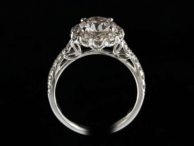 1.59ct Halo Engagement Ring