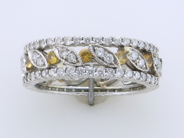 1.25ctw Dia And Yellow Sapp Ring