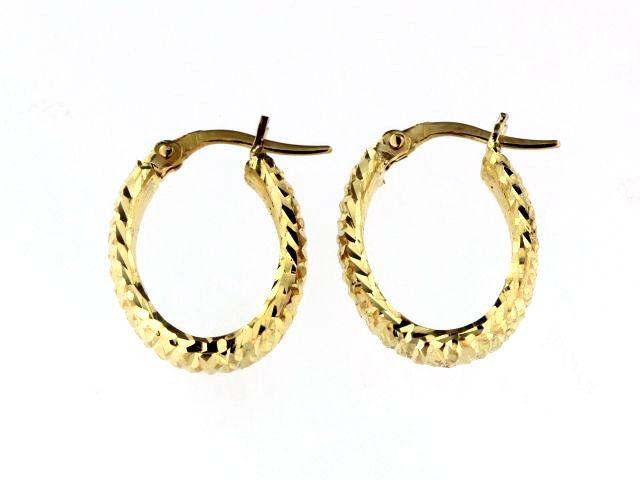 Faceted Hoop Earrings