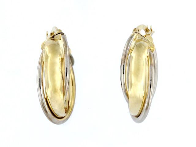 Interlocking Hoop Earrings