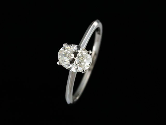 1.00 ct Oval Engagement Ring