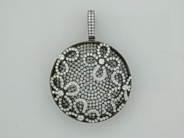 Silver clover pendant