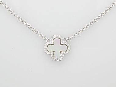 Silver Quatrefoil Necklace