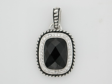 Onyx and Cubic Pendant