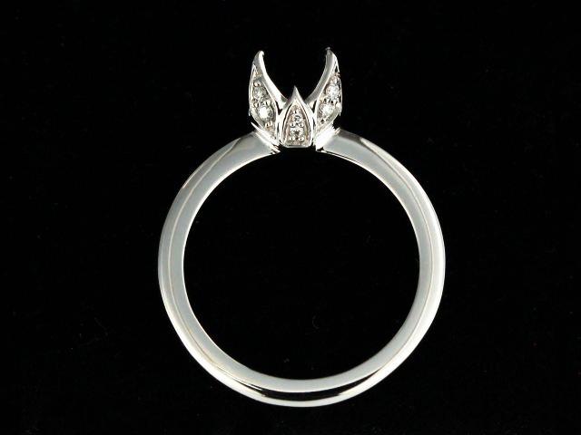 14KT Diamond Engagement Mount