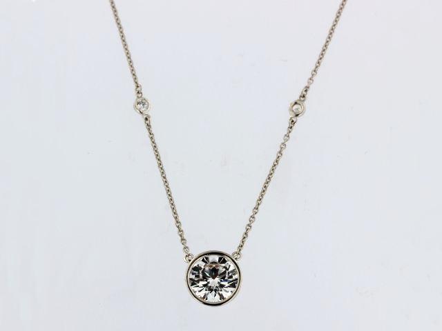 Bezel Cubic Necklace