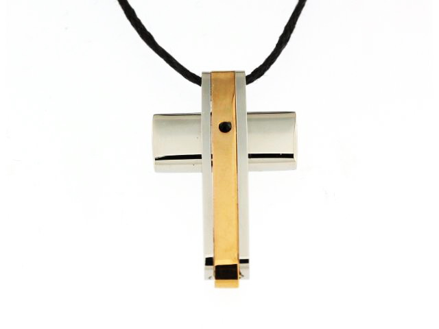 Steel Cross with Cord