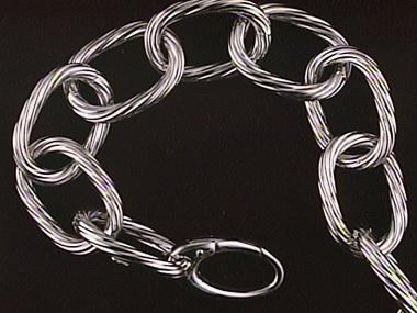 18kw 8 Inch Twist Cable Bracelet