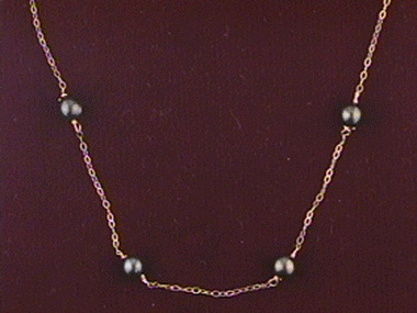4.5- 5.00mm F W Tin Cup Necklace
