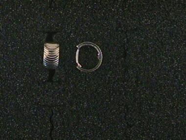 14kt Cut Huggie Earrings