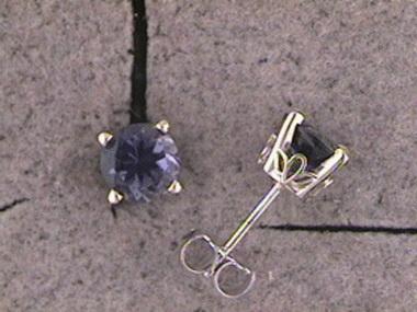 Iolite Stud Earrings