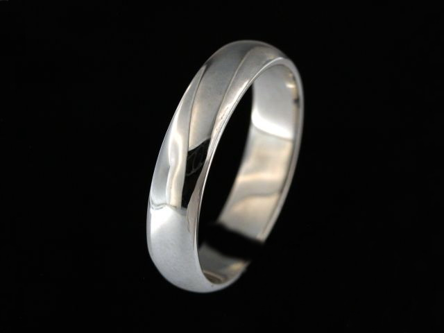 5.00 mm White Gold Band
