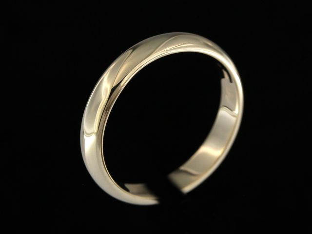 4.00 mm Yellow Gold Band