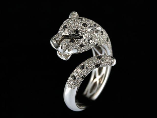 18kw 2.34ctw Panther Ring
