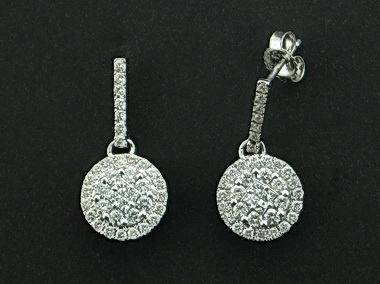 14kt Diamond Drop Earrings