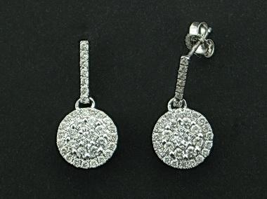 14kt Diamond Drop Earrings