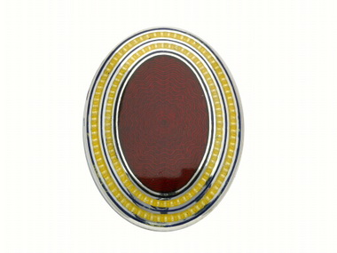 Maroon & Yellow Oval Cufflinks
