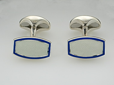 Blue And White Cufflinks