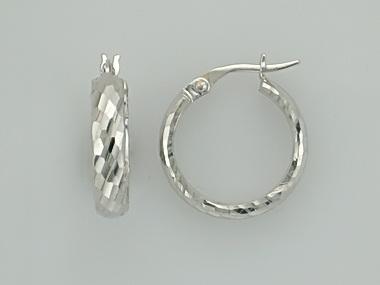 14KT textured hoop earrings