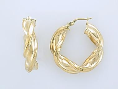 10KT Twisted Hoop Earrings