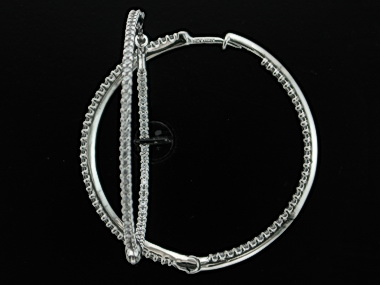 10KT Cubic Hoop Earrings