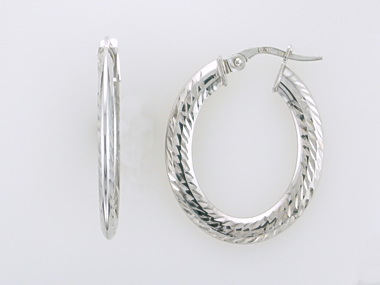 Textured Oval Hoops