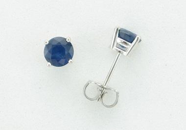 14KT Sapphire Stud Earrings