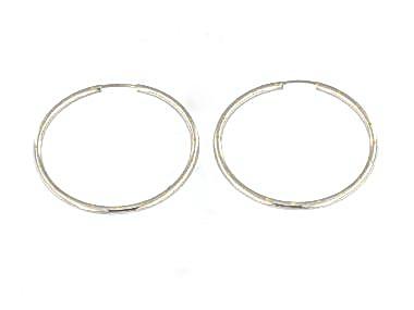 Hoop Earrings In White Gold