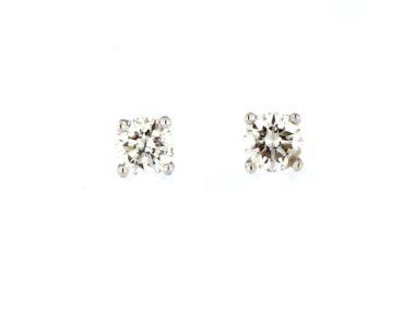0.37 ctw Diamond Stud Earrings